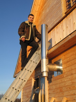 Фото как сделать дымоход для частного дома